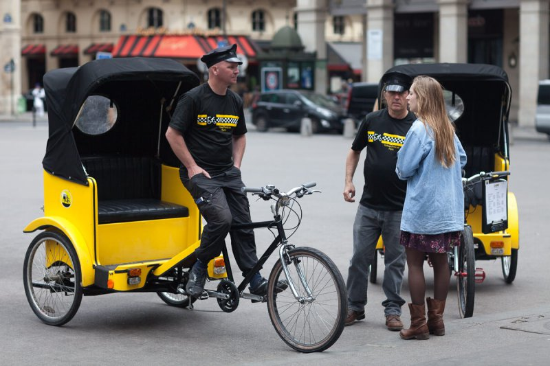 Yellow cyclo cab
