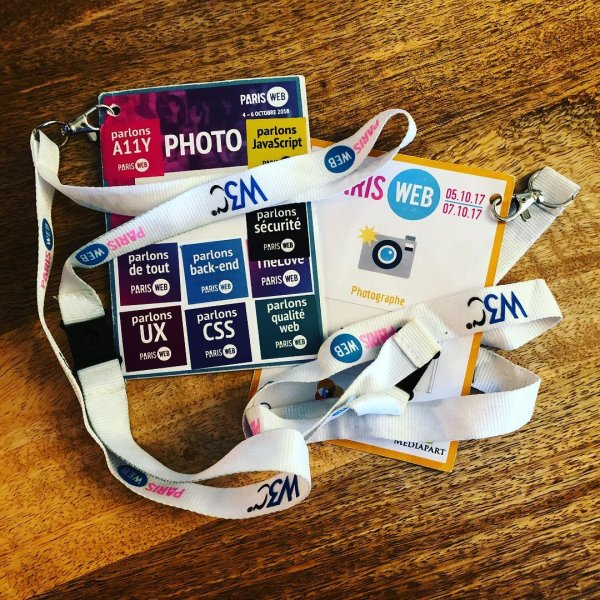 Badges Paris-Web 2017 & 2018