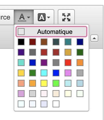 Palette de couleur CKEDitor, Dotclear 2.12, avr. 2020