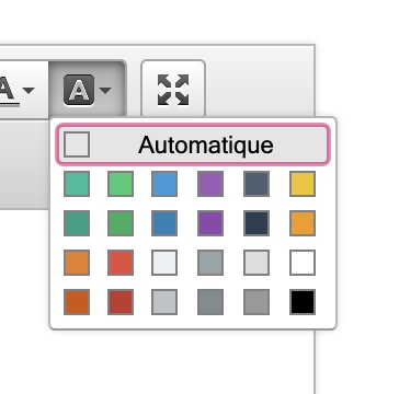 Palette de couleur CKEDitor, Dotclear 2.16.1, avr. 2020